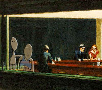 Pongelz Bilder Druck: Hopper Nighthawks