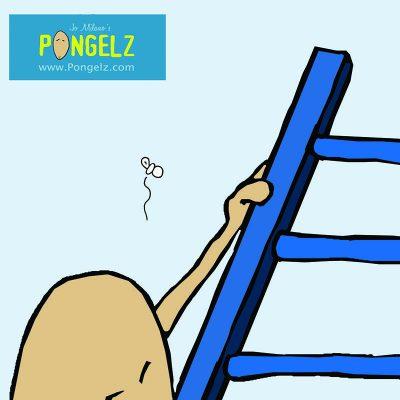 Pongelz Bilder Druck: Peter auf Leiter