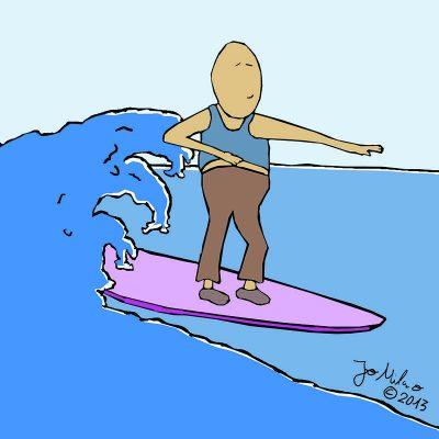 Pongelz Bilder Druck: Surfin Paul