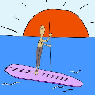 Pongelz Bilder Druck: Surfin Peter